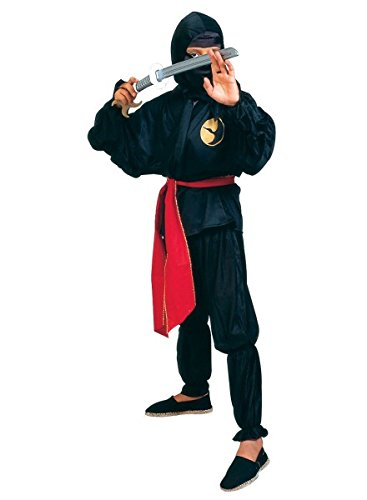 �m schwarz, Kostüm Ninja mit Schwert, Größe:116 (Kreative Halloween-kostüme Für Große Jungs)