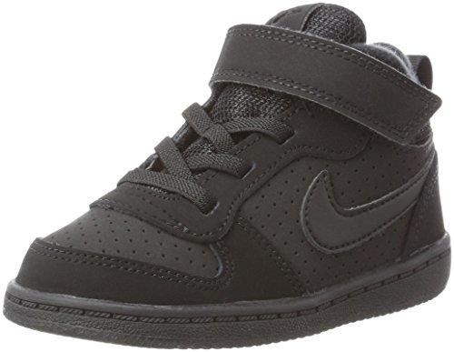 Nike Unisex-Kinder Court Borough Mid (TD) Basketballschuhe, Schwarz (Black/Black 001), 23.5 EU