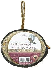 Chapelwood mitad Coco de alimento de pájaro tratar con mealworms