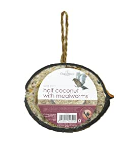 Chapelwood Half Coconut Bird Suet Treat with Mealworms