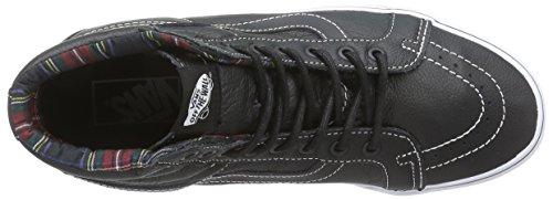Vans Sk8-Hi Reissue, Sneakers Hautes Mixte Adulte Noir (Black/Plaid)