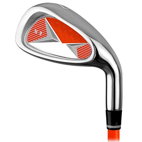 DRHYSFSA Golf Eisen 7 Eisen Männer Und Frauen Kinder Golf Practice Club Golf Carbon Eisen Anfänger Übungsstange Für 3-12 Jahre Alt Orange Rot Blau Golfschläger-Zubehör