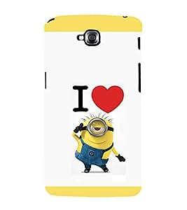 printtech I Love Minions Back Case Cover for LG GPro Lite / LG G Pro Lite Dual D686