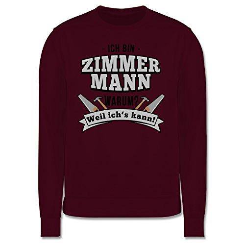 Handwerk - Ich bin Zimmermann - Herren Premium Pullover Burgundrot