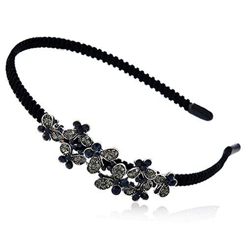 L_shop Orchidee Blume Schmetterling Haarband koreanische Version klassische Tinte Haarband Haarschmuck niedlich Haarband, Legierung Strass, Stil 2
