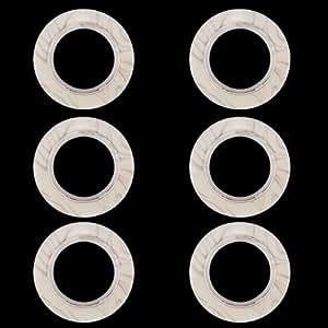 6pcs Round anneau en plastique de forme pour Œillet de rideau Beige / Pattern persillage