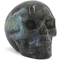 deyue 0,29LB natur Labradorit geschnitzt Realistische Kristall Skull Skulptur, Heilende Energie Reiki Edelstein... preisvergleich bei billige-tabletten.eu