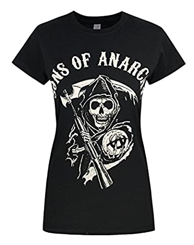 Damen - Official - Sons Of Anarchy - T-Shirt (XL) (Wert Club Series)