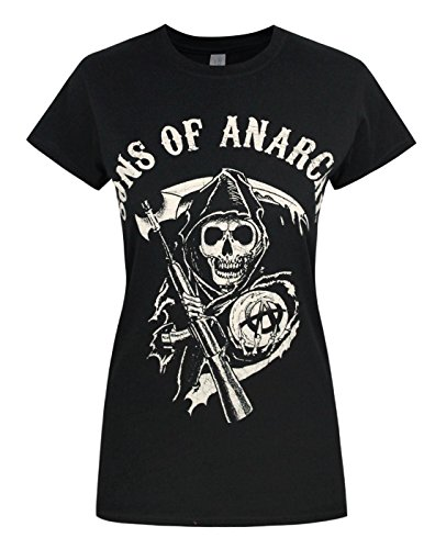 Official Sons Of Anarachy Reaper Womens T-Shirt (XXL) (Sons Of Anarchy Womens)