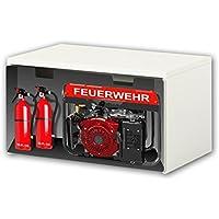 Preisvergleich für Stikkipix Feuerwehr Möbelfolie | BT33 | Möbelaufkleber mit Feuerwehr-Motiv | passend für die Kinderzimmer Banktruhe STUVA von IKEA (90 x 50 cm) | Möbel Nicht Inklusive