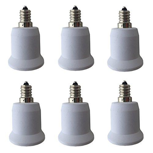 DZYDZR 6 PCS E12 auf E27 / E26 Adapter - Kronleuchter Sockel (E12) to Mittelsockel (E26 / E27) Konverter