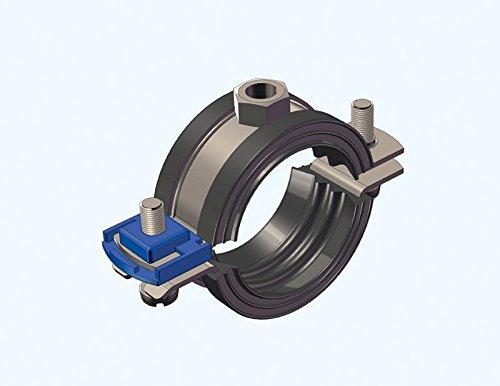 Abrazadera de tubería clic acero inoxidable V4A 70-77mm M 10 con el con depósito para DIN 4109