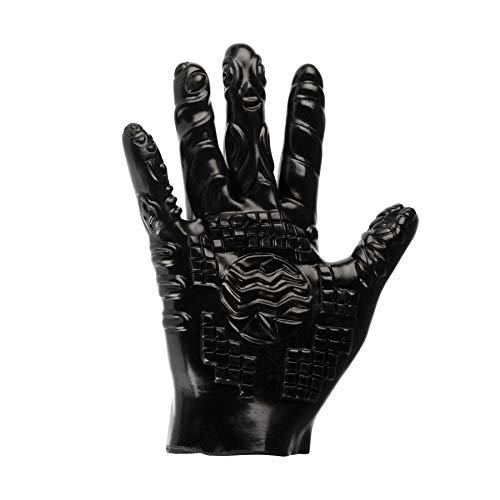 Deluxe strukturierter Massage-Handschuh, Fingerüberzieher für Erotik-Massage der Klitoris & vaginales und anales Fisting