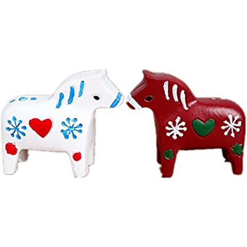 GYN Resina Creative pintada animales figuras hogar de Pony Mini escritorio Decorations(TWO)