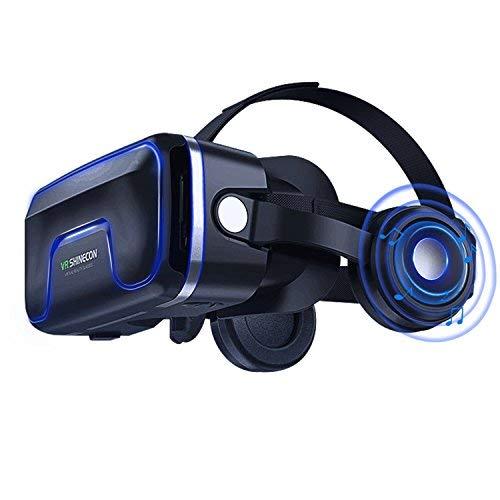 Occhiali VR Compatibile con tutti gli Smartphone da 4,7 a 6,0 Pollici-Regalo Perfetto di Natale e di Compleanno (Nero)