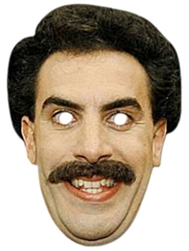 Faschingsfete Erwachsenen Borat Karneval Faschingsmaske, Mehrfarbig (Borat Halloween-kostüm)