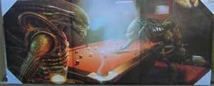 Alien V Predator Jeu piscine Art Mural sur toile XL