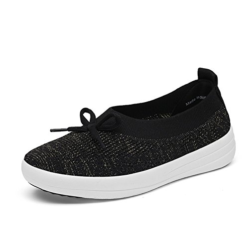 WUIWUIYU Femme Casual Loafer Chaussures Multisport Outdoor