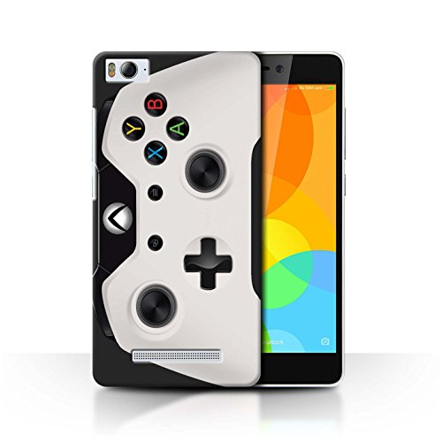 Stuff4® Hülle/Case für Xiaomi Mi 4i / Weiß Muster/Videogamer/Xbox One Kollektion