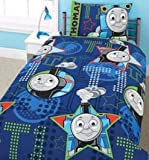 Kids/Childrens Thomas the Tank Engine All Aboard Design Bedding Duvet Cover Set and Pillow Case (Single Bed)
