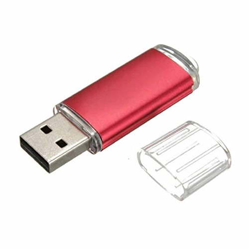 Tonsee Mini 16GB USB 2.0 Metall Flash Speicher Stick Daumen U Speicherplatte (Rot)