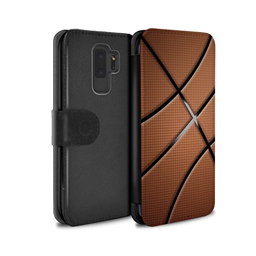 Stuff4® PU-Leder Hülle/Case/Tasche/Cover für Samsung Galaxy S9 Plus/G965 / Basketball Muster/Sport Bälle/Ball Kollektion