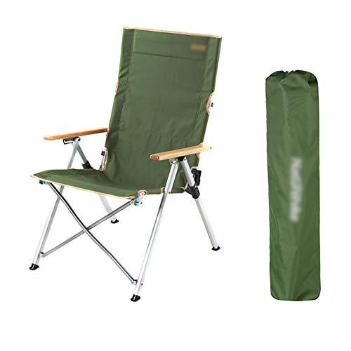 Extérieur Portable Pliant Inclinable Sauvage Camping Chaise De Plage Voiture Auto-Conduite Chaise De Camping Haute Qualité Support De Tuyau Portant 280 Kg Confortable Couché Confortable De Stockage