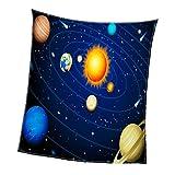 Fenteer Superweiche und Warme Plüsch Kuscheldecke Tagesdecke Wohndecke Fleeckdecke Sofadecke - Kosmos 150x200cm