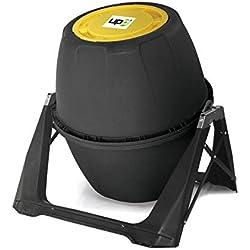 UPP Tonneau composteur de Jardin I Idéal Petite Surface I Capacité 180 litres Couleur Anthracite I Complément à Une Poubelle a Compost et de Cuisine I sans activateur ou accelerateur