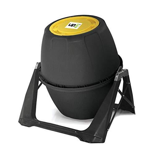 UPP Trommel-Komposter 180L Kompostierer | Composter | interne Belüftung | Sicher vor Ungeziefer | Schnellkomposter [Anthrazit]