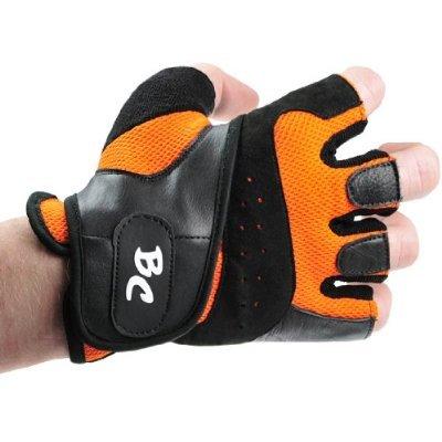 Bad Company I Fitness Handschuhe Maximum Grip I Trainingshandschuhe aus Leder I Inkl. Handgelenksbandagen I Gr. XXL