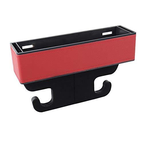 MJ-Car Storage Box Aufbewahrungsbox Für Autositz Catcher Gap Cup Handyhalter Fall Container Organizer Tragbare Multifunktionale Auto Zubehör Für Auto SUV Minivan LKW Indoor (Rot) -