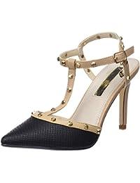 XTI 30689, Zapatos con Tacon y Tira Vertical Para Mujer