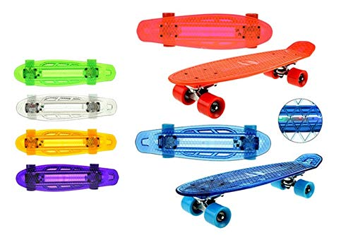 Toi-Toys 62353Z Skateboard with Light for Children Friends Skater Railway Leisure Youth Gifts Boys Girls Children's Toy