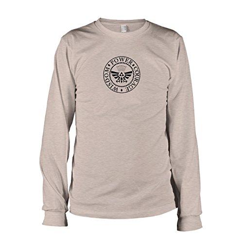 Texlab - Hyrule Siegel - Langarm T-Shirt, Herren, Größe XXL, Graumeliert (Hyrule Warriors Legends Kostüm)
