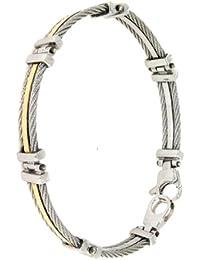 B-JOY - bracelet Or Jaune 750/1000 (18 carats) avec acier 316L, 20cm - BR-BJ-1063