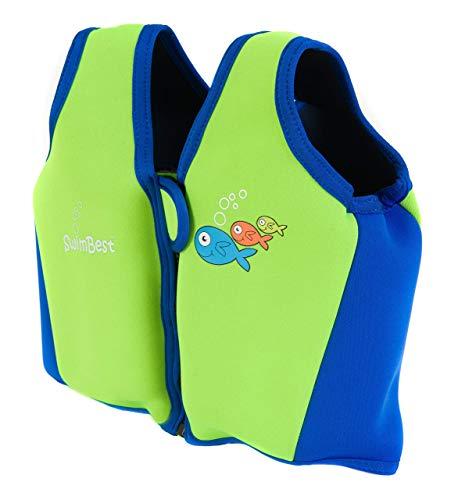 Swimbest Gilet/Giubbotti da nuoto-16 Mesi - 3 Anni - Verde e Blu Reale (SJTWS3-03)