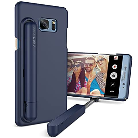 VRS Design Apple iPhone 7 Hülle mit Cue Selfie Stick Stange | Foto-Stab in Blau | Foto Hilfe | Smartphone Zubehör | Handy-Case Cover