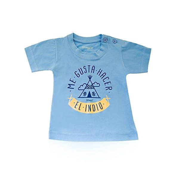 "Mr. Wonderful Camiseta infantil ""Me gusta hacer el indio"", talla 0 / 3-6 meses 2"