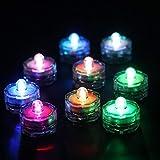 12er Set Unterwasser wasserdichte LED Teelichter für Hochzeit und Party, Stimmungsleuchte, RGB Licht