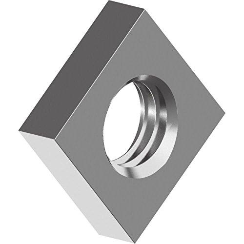 500 Stück Vierkantmuttern DIN 562 - Edelstahl A2 niedrige Form M 3