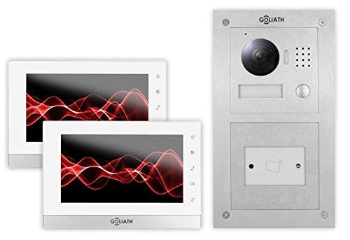 Goliath IP Video-Türsprechanlage, Unterputz RFID Türstation, Edelstahl, HD Kamera, Smart-Phone...