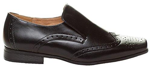 Paisley of London, Jungen Schwarz Schuhe Jungen, braun Schuhe, Jungen Slip auf Schuhe, formelle Schuhe, Infant 8–Youth 6 Schwarz