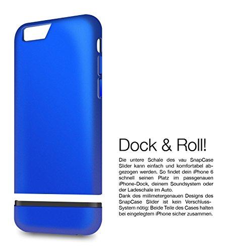 vau Snap Case Slider - zweigeteiltes Hard-Case für Apple iPhone 6 (matte black) matte blue