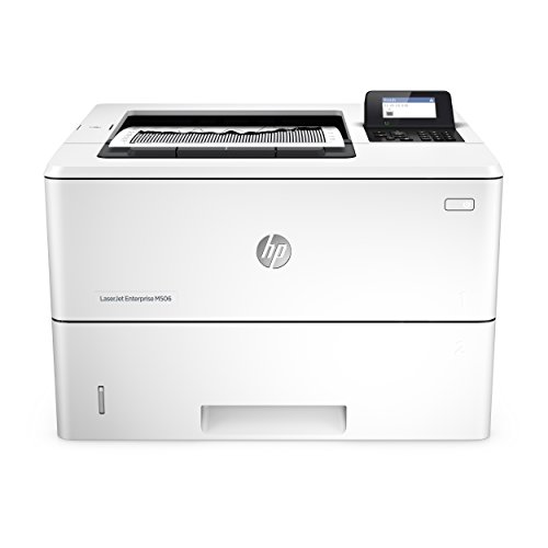 HP LaserJet Enterprise M506DN Mono Laserdrucker (Drucker, Duplex, LAN, ePrint, AirPrint, Cloud Print, USB, 1200 x 1200 dpi) weiß