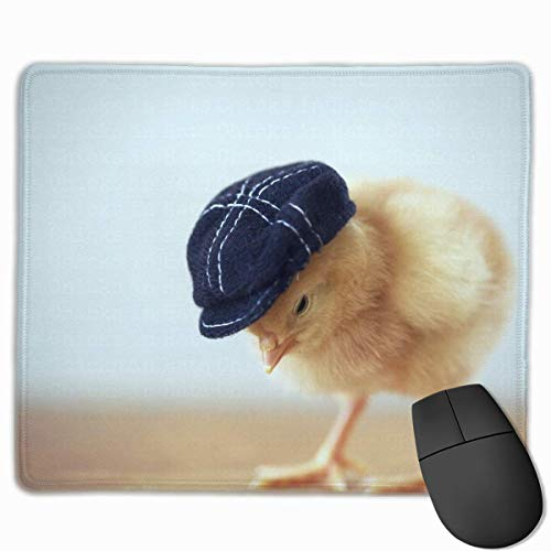 Professional Gaming Mouse Pads Fashion Chicken Laptop Pad Non-Slip Rubber Stitched Edges 18X22cm