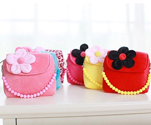 confronta il prezzo WeiMay moda bambina borsetta borsa carino Principessa Messenger spalla borsa borsetta della moneta del velluto per il migliore regalo per 1-6 anni(Rosa piccolo miglior prezzo