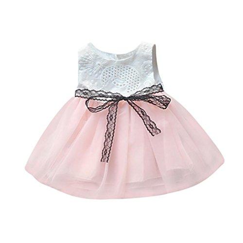 e4989a7965cd5 DAY8 Vêtements Bébé Fille Naissance Été Robe Bébé Fille Cérémonie Princesse  Mariage Baptême Fête Plage 0