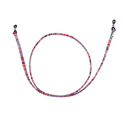 FENICAL Brillenhalterkette Leder Universal Fit Rutschfeste Unisex-Sonnenbrillenschnur-Haltercords (buntes Rosa)