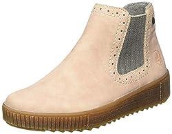 Rieker Damen Y6463 Chelsea Boots, Pink (rosa/leinen 31), 40 EU